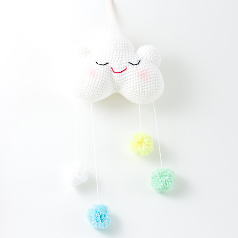 Happy baby cloud - Handmade crochet decoration